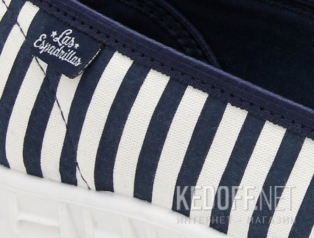 Спортивні балетки Las Espadrillas Motion Foam 22634-8913 Navy striped