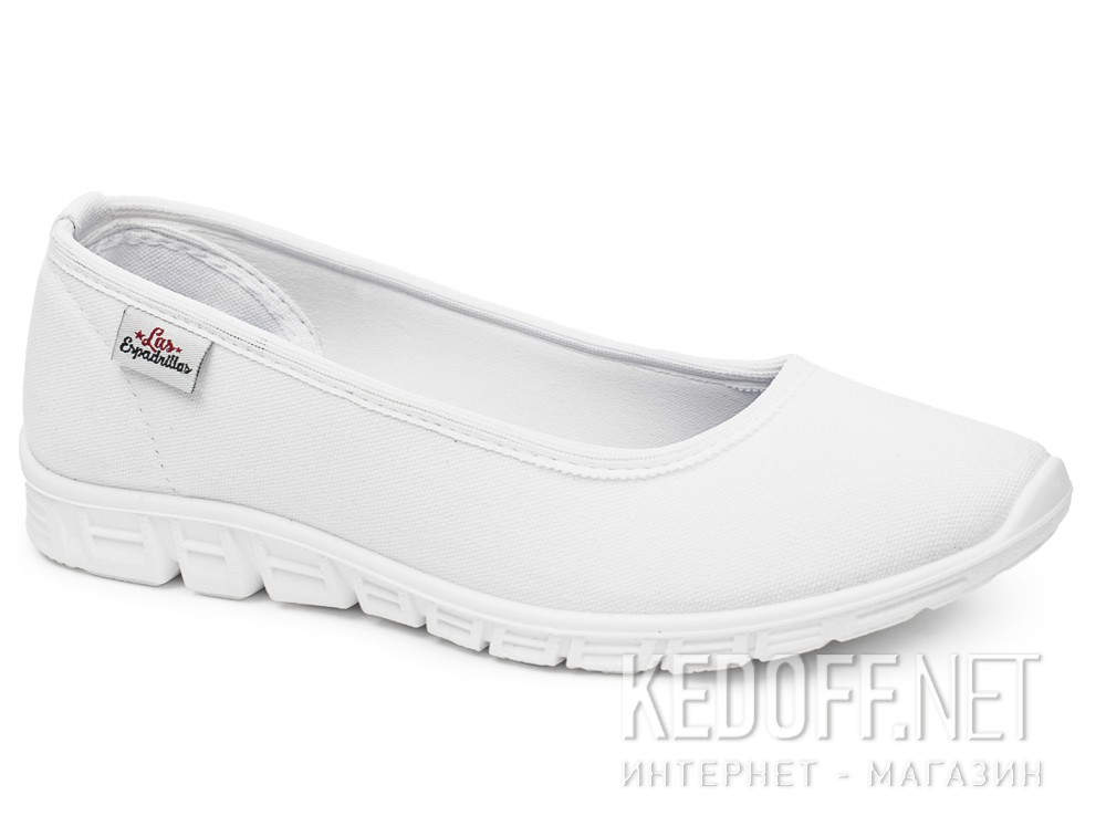 Sports ballerinas Las Espadrillas Motion Foam 22635-13 Optical White