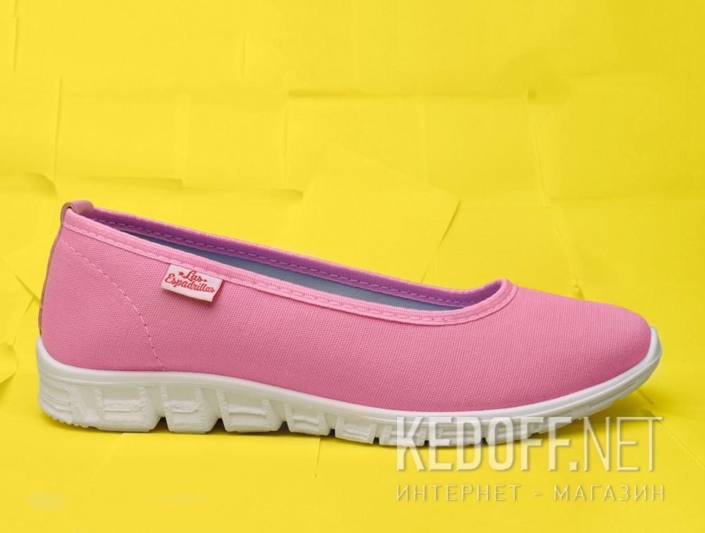 Балетки Las Espadrillas 22635-3428   (розовый) доставка по Украине