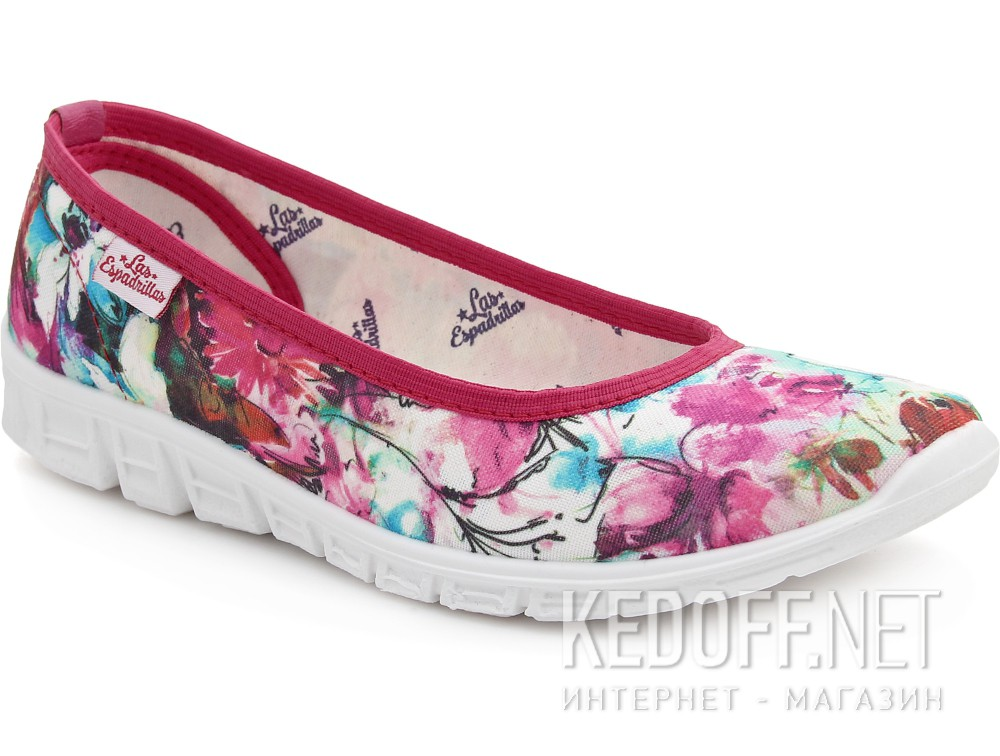 Спортивні балетки Las Espadrillas Pink Flowers Motion Foam 22635-4628