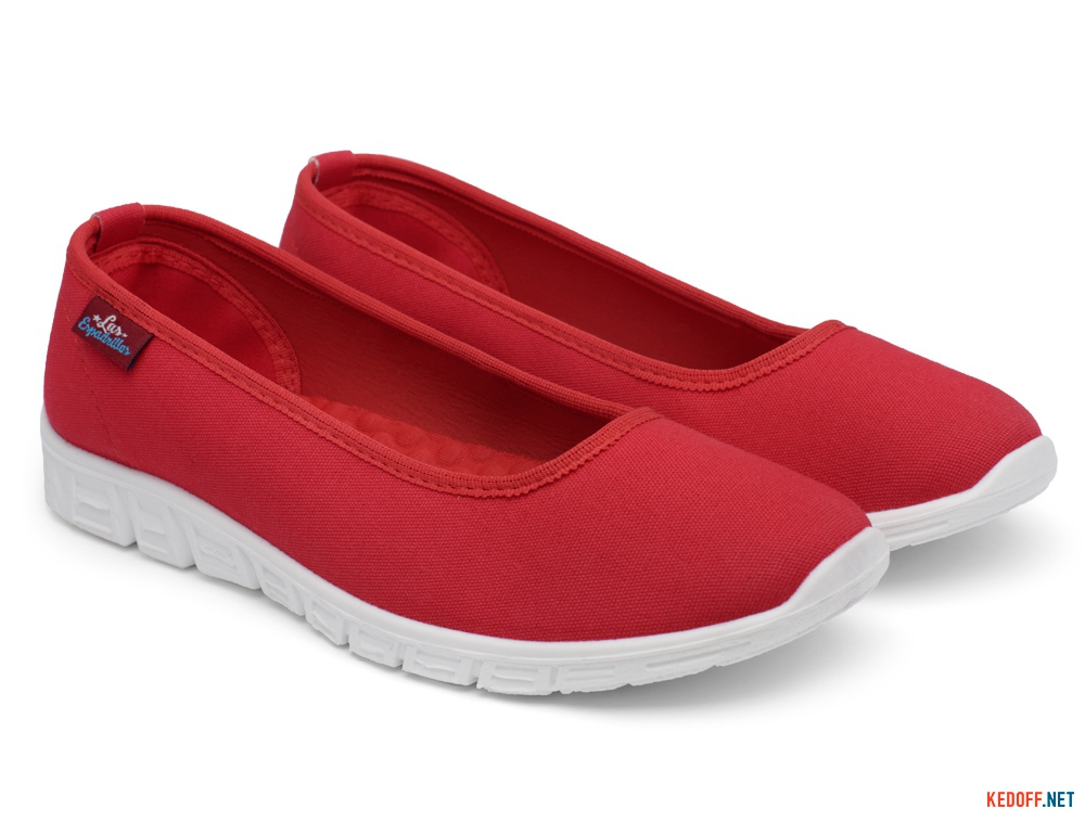 Спортивні балетки Las Espadrillas Motion Foam 22635-47 Red Canvas
