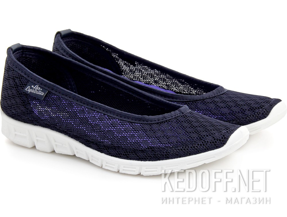 Sports ballerinas Las Espadrillas Navy Summer Mesh 32636-89 Motion Foam