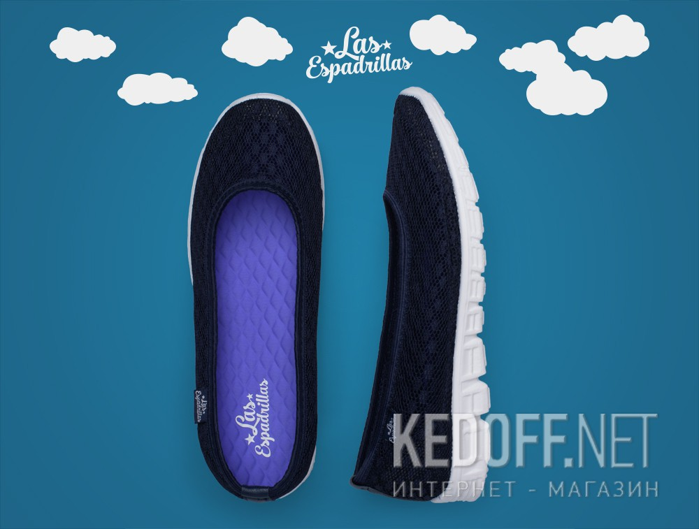 Delivery Ballerinas Las Espadrillas 32636-89 (dark blue mesh)