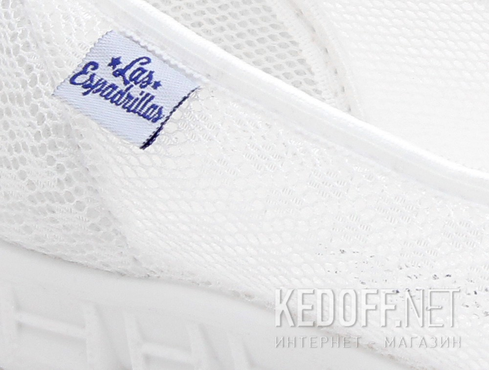 Sports ballerinas Las Espadrillas Summer White Mesh 32636-13
