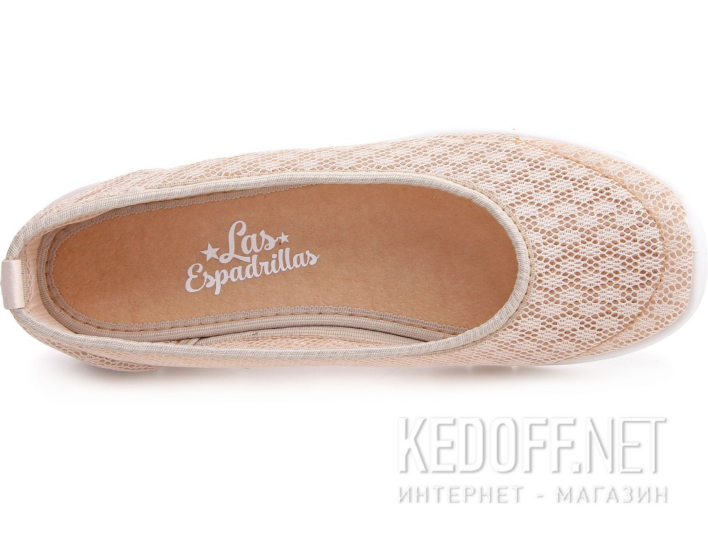 Sports ballerinas Las Espadrillas Summer Bejge Mesh 32636-18
