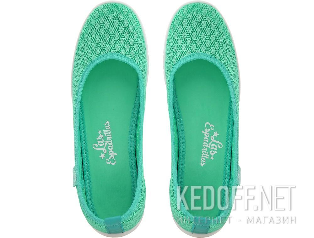 Балетки Las Espadrillas 32636-28    (зеленый) купить Киев