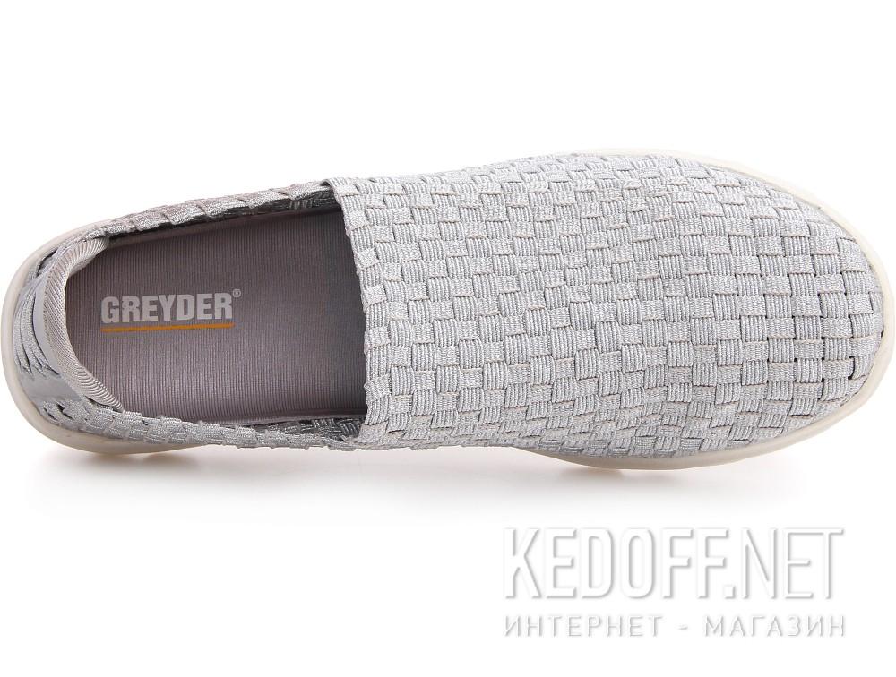 Оригинальные Слипоны Greyder 04059-14 унисекс   (серебряный)