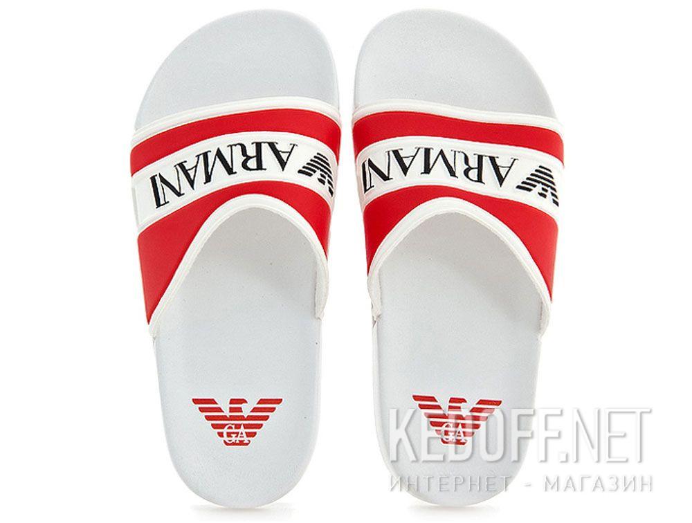 Купить Тапочки Armani 4519-13 (красный/белый)