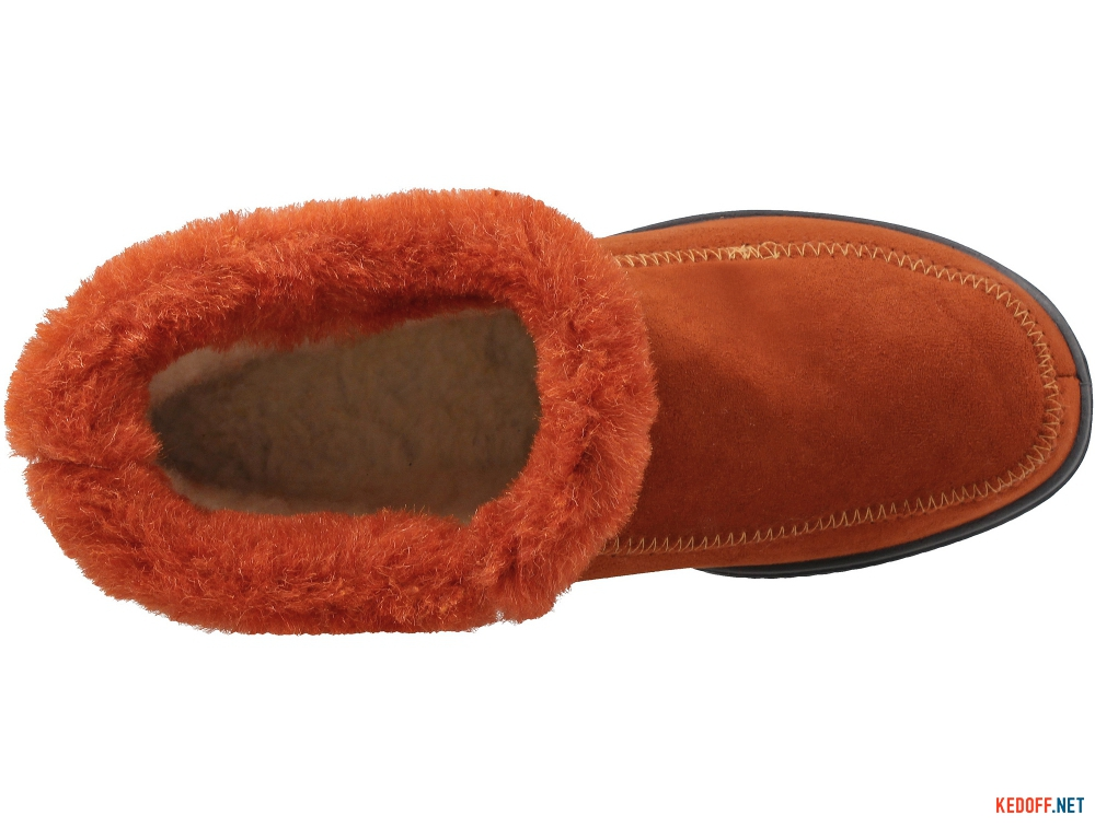 Female insulated home shoes Forester Orange 4698