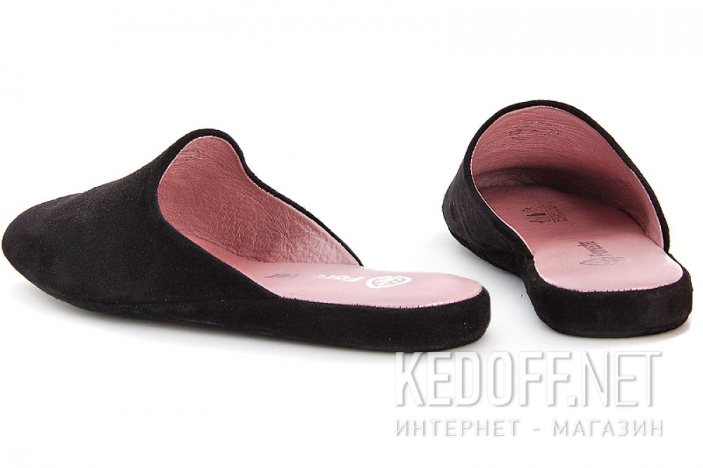 Woman Slippers Forester Home 550-27 Black Suede