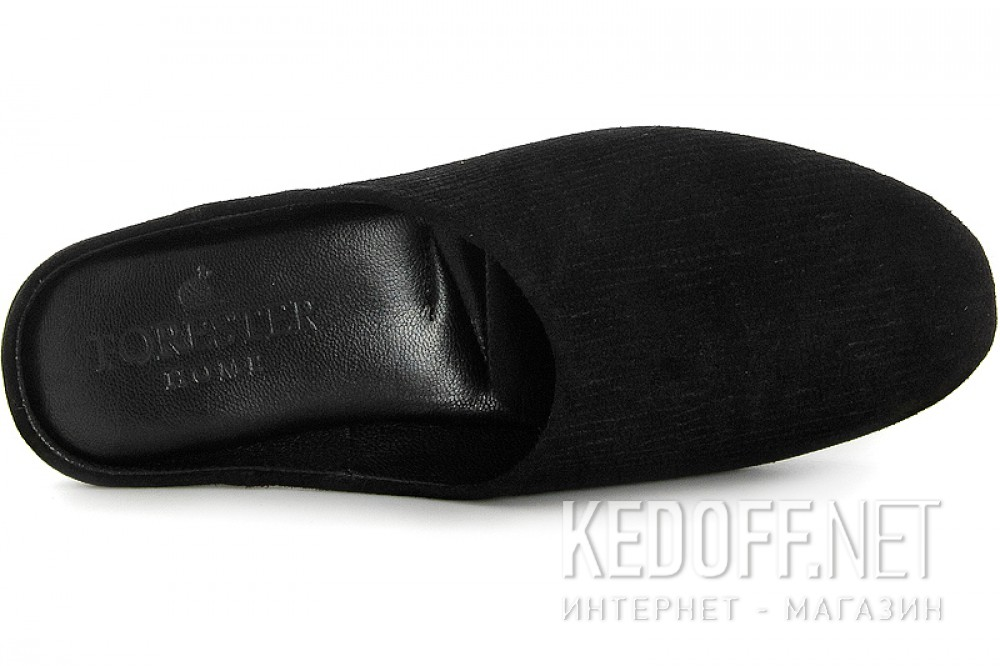 Home shoes Forester Home 1504-1 Black suede