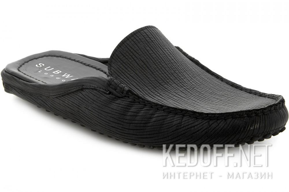 Мужская обувь Subway 7196-5RFL Черная кожа
