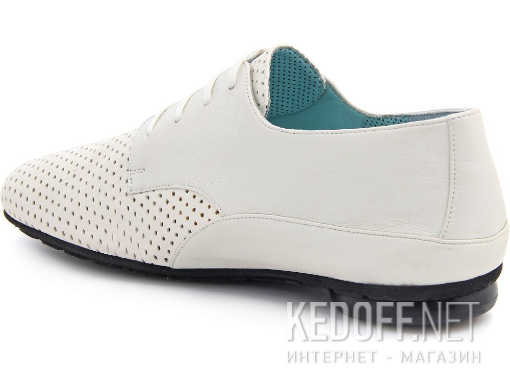 Белые перфорированные туфли Thierry Rabotin 7472 Made in Italy