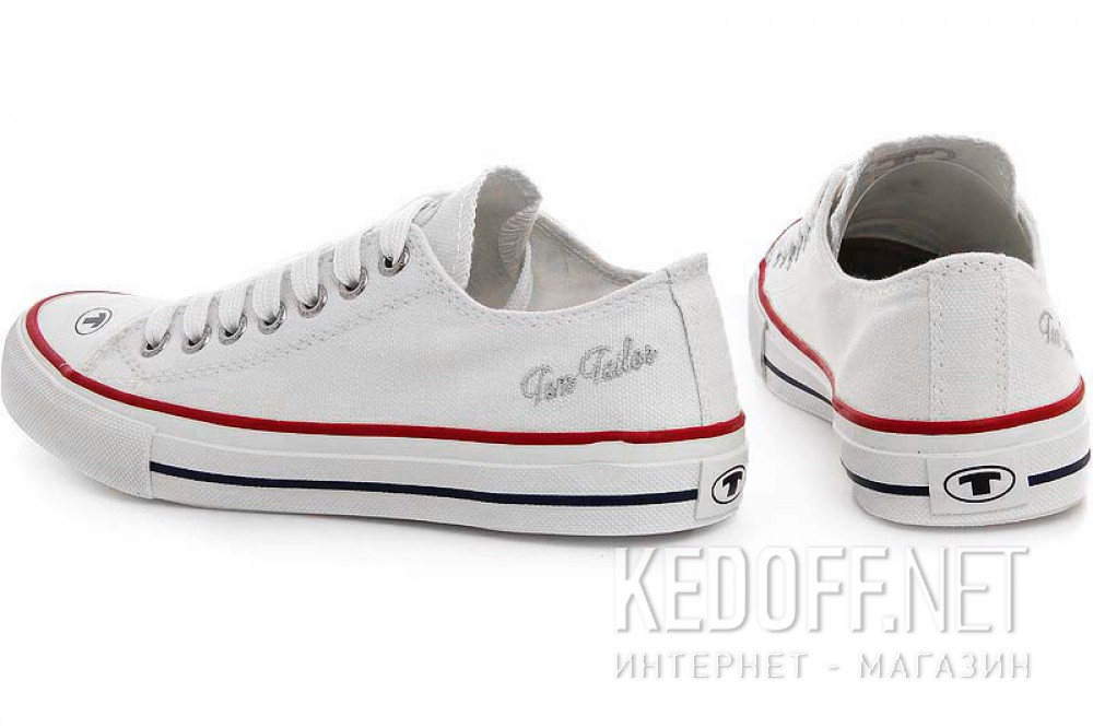White canvas shoes Tom Tailor Classic 49086