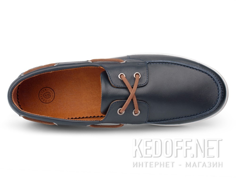 Forester Boat Shoes Yacht Marine 020216-46 Navy Leather