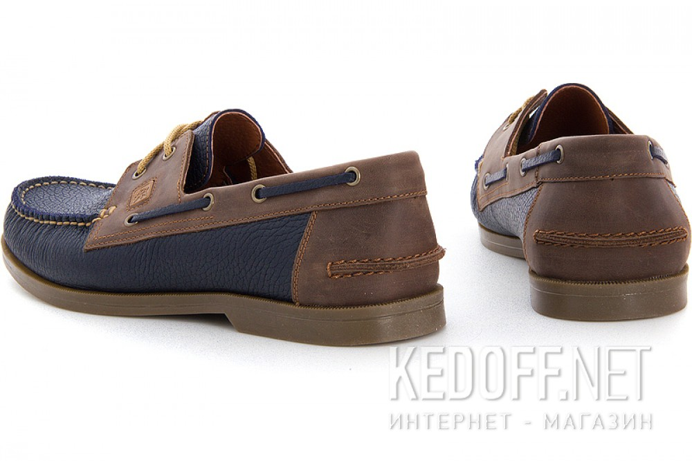 Мокасины Forester 4057 унисекс   (коричневый/синий) купить Украина