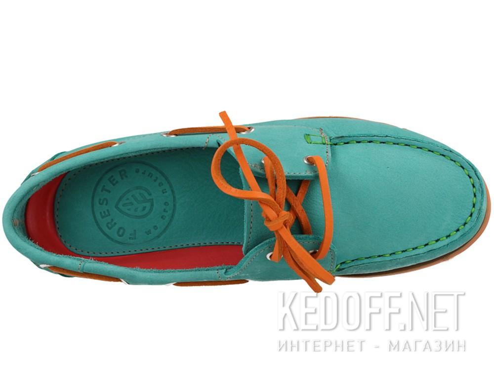 Мокасины Forester 6560-2201 унисекс   (бирюзовый/оранжевый/зеленый) купить Киев
