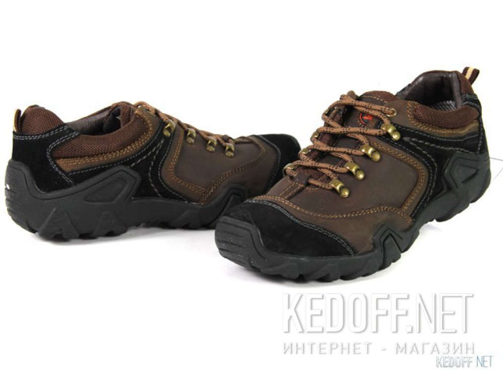 Полуботинки Forester 112-4036-02 унисекс   (коричневый/чёрный) купить Киев