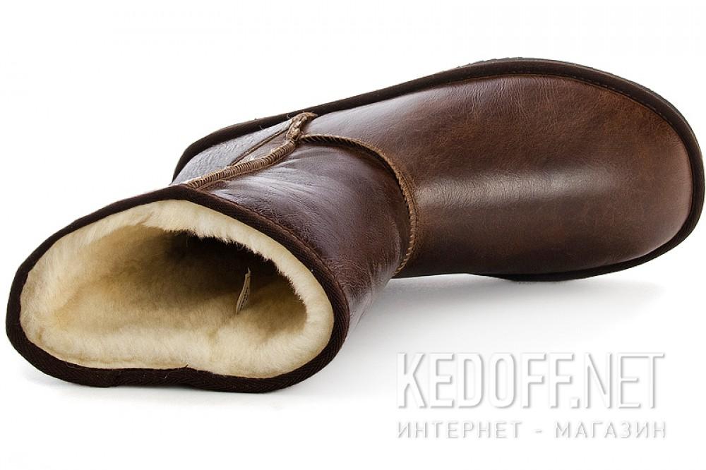 Мужские Угги Forester 13050-2305 Темнокоричневые кожаные