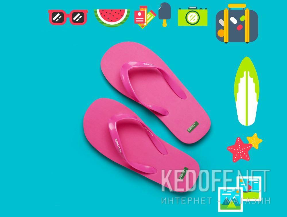 Оригинальные Пляжная обувь Benetton 603 унисекс   (розовый)