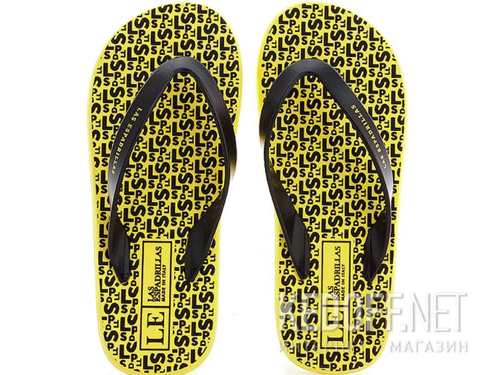 Купить Вьетнамки Las Espadrillas F6574-2127 Made in Italy унисекс   (чёрный/жёлтый)