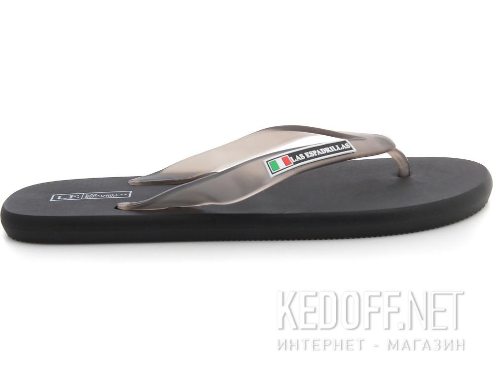 Flip flops Las Espadrillas Palau 7201-27 Nero Made in Italy
