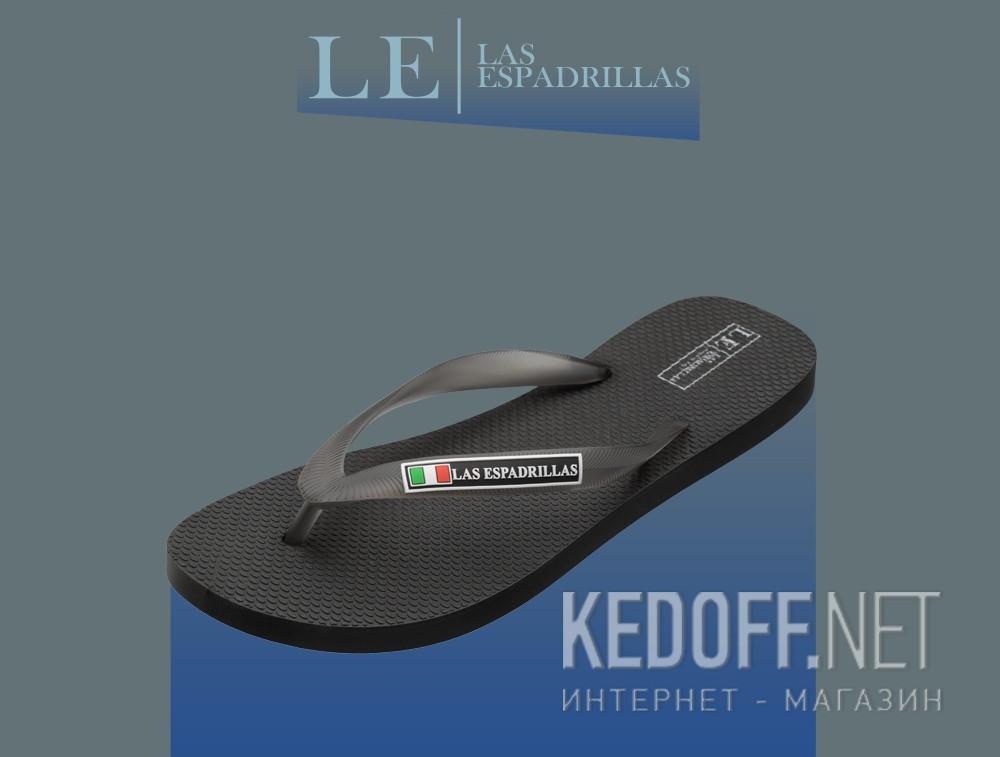 В'єтнамки Las Espadrillas Rimini Uomo Nero 7223-27 Made in Italy