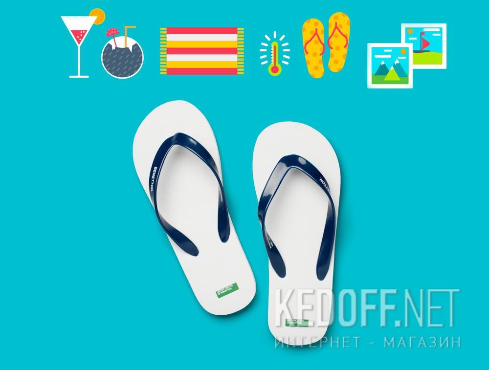 Вьетнамки Benetton 602 унисекс   (синий/белый) купить Украина