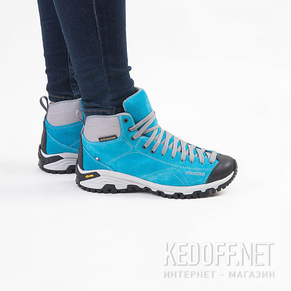 Цены на Замшевые ботинки Forester Blue Vibram 247951-40 Made in Italy