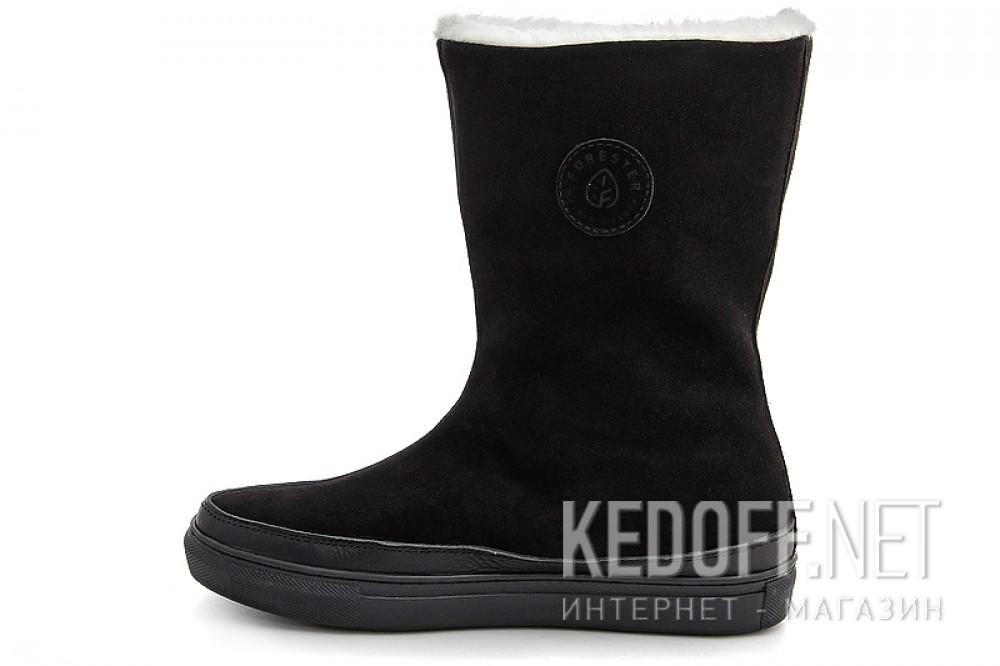 Замшеві зимові чобітки Forester 8530-271Sz Чорні