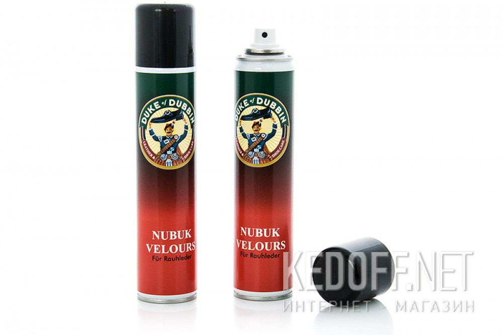 Купить Спрей для обуви Duke of Dubbin Nubuk Velours 4026 (чёрный)