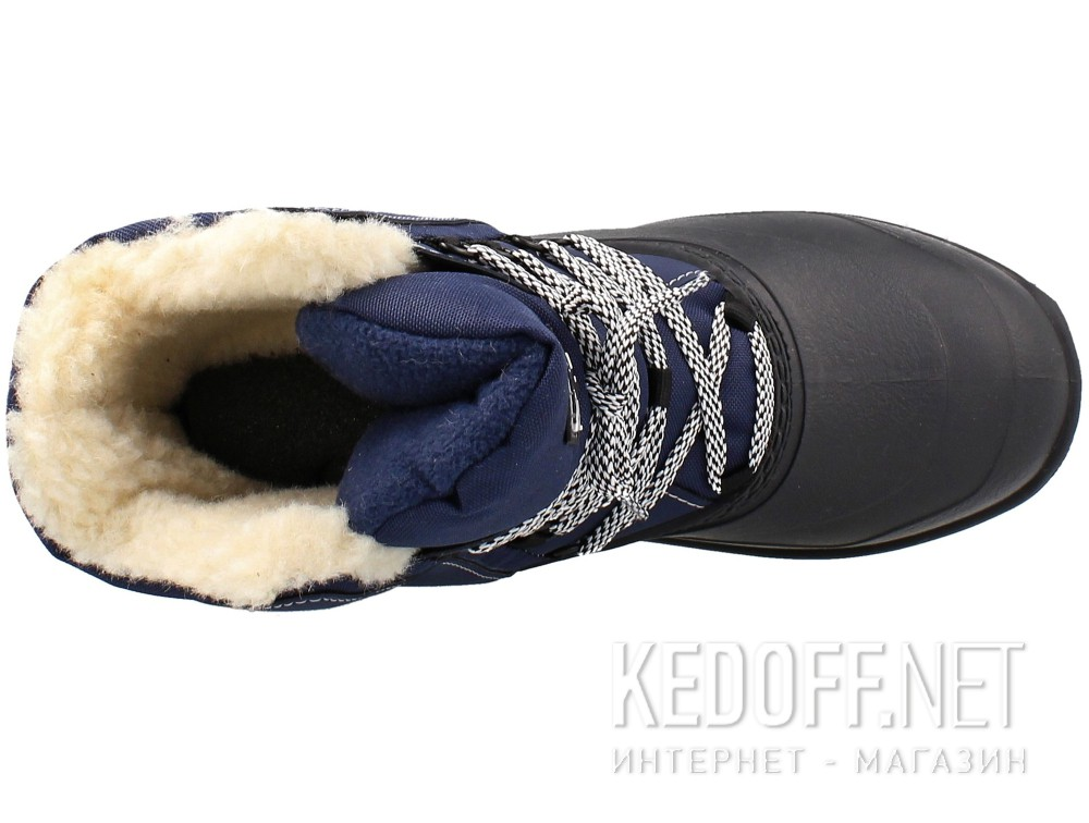 Winter boots fur Forester Grenlandia Navy A7011-89 Wool