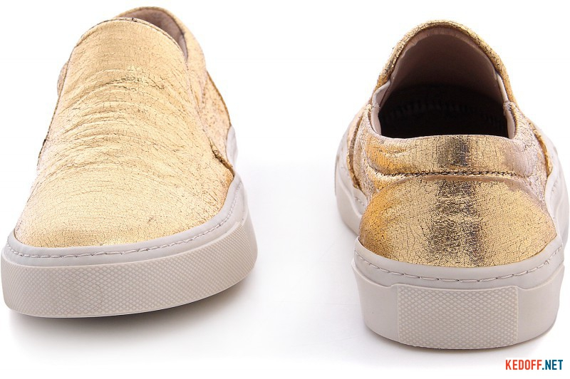 Слипоны Las Espadrillas Golden fabric 557115-9248
