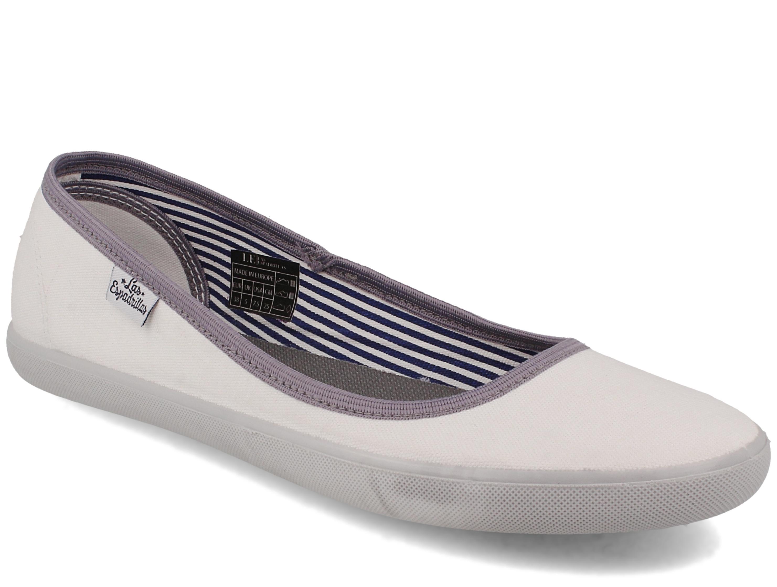 Купить со скидкой Женские балетки Las Espadrillas Eco Soft LE2203-1337 Lacoste Slim White