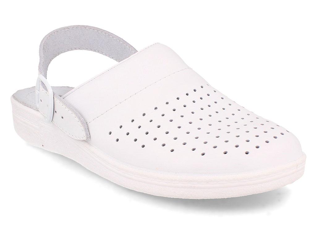 Купить со скидкой Кожаная докторская обувь Forester Sanitar 0404-13 White