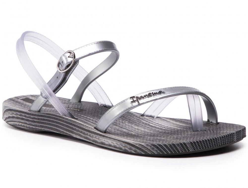 Купить Женские сандалии Rider Ipanema Fashion Sandal Vi Fem 82521-20320 Made in Brasil, Серебряный, Бесцветный, Серый