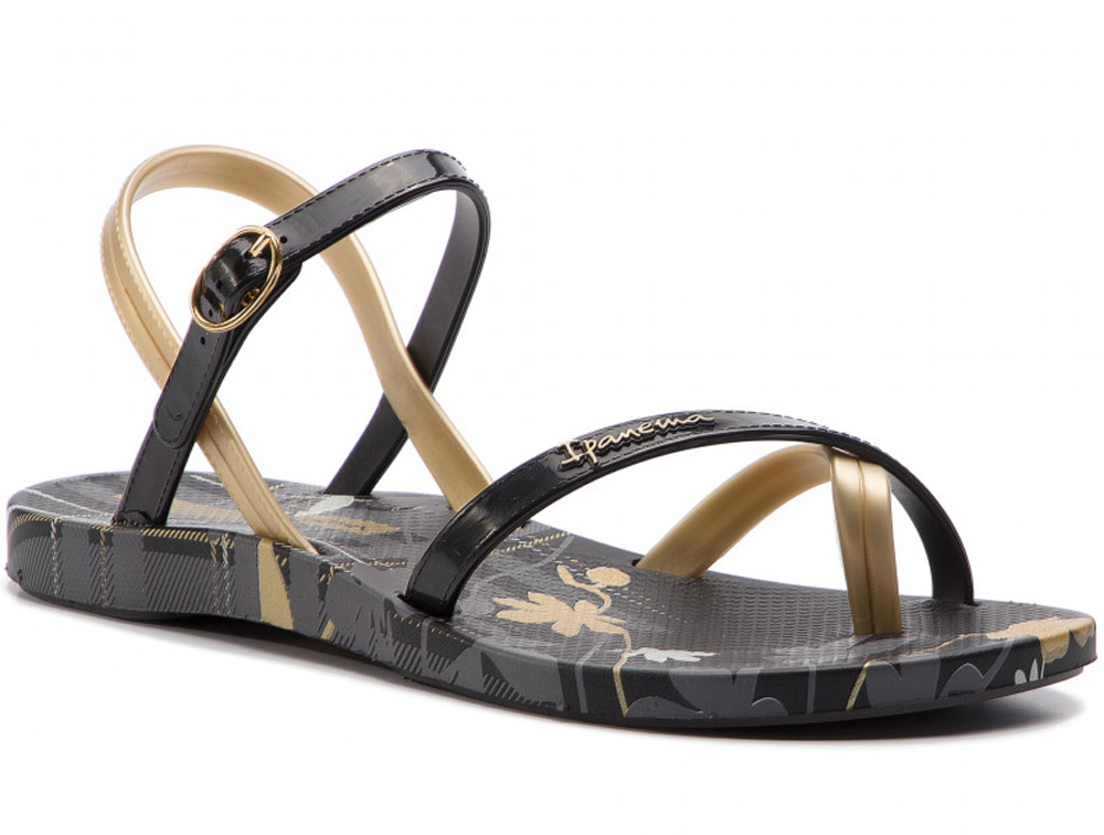 Купить Женские сандалии Rider Ipanema Fashion Sandal VI FEM 82521-24740 Made in Brasil, Золотистий, Чёрный