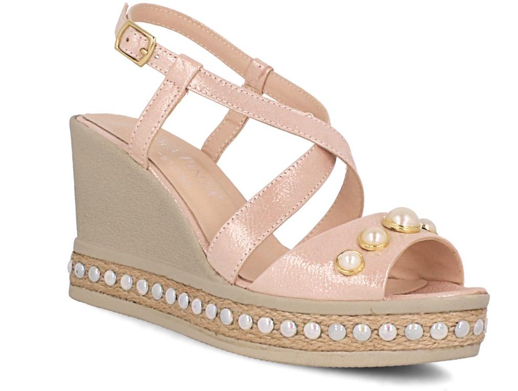 Купить Женские сандалии Las Espadrillas 0428-812-86 пудрарозовый, Пудра, Розовый